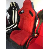 China Red ALCANTARA Stitching Sport Racing Seats Suede With Slider Right / Left wholesale