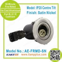 Buy cheap IP20 Tiltable Satin Nickel Fire Rated Downlight | LED Spotlight | Halogen Lamp from wholesalers