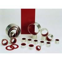China Self Lubricating Bearings Low-Carbon Steel + Porous Bronze + Red PTFE wholesale