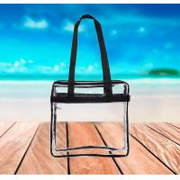 Buy cheap Clear PVC Tote Bag Security Zippered Shoulder Bag With Adjustable Shoulder Strap from wholesalers