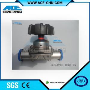 "China Stainless Steel Manual Type Tank Bottom Valve 3 Way DN40 OD 1.5"" Stainless Steel 316 Sanitary Diaphragm Valve wholesale"