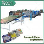 China 33KW Automatic Paper Bag Making Machine With Step Cut & Flat Cut wholesale