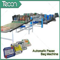 Quality 33KW Automatic Paper Bag Making Machine With Step Cut & Flat Cut for sale