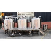 China 10 HL Stainless Steel Beer Making Machine Semi Automatic Control With Jacket wholesale