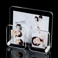 China Office Clear plastic photo frames Lightweight with 3 picture holders wholesale