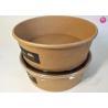 China Unbleached Rice Noodle Kraft Paper Salad Bowls 20oz 26oz 32oz Food Container wholesale