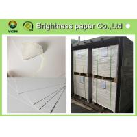 China Large White Card Sheets 350gsm , Recycled Coated Cardboard Sheets Anti - Curl wholesale