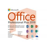 China Full Version Microsoft Office 2019 Pro Plus DVD Package 4.0 GB Disk Space Lifetime Warranty wholesale