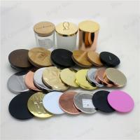 Buy cheap customized metal candle lids with logo from wholesalers