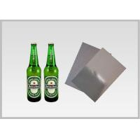 China Washable Silver Metallic Paper With Laser Holographic  Wood Pulp Material Beer Bottle Label in 70gsm wholesale