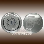 cheap custom lions club pure silver commemorative coin