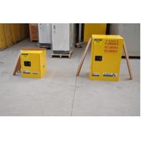Quality Yellow Fireproof Flammable Safety Cabinets 12 Gal / 45L With Adjustable Leveling for sale