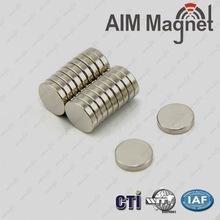 China Disc Shape Zinc coating Rare earth magnet D6x0.8mm wholesale