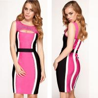 China Fashion Design Celebrity Wholesale Sleeveless Beading Cute Elastic Bandage Dress wholesale