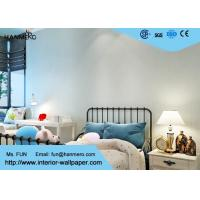 China Removable PVC Blue Color Modern Embossed Wallpaper For Bedding Room on sale