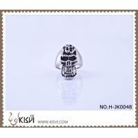 China Hot Sell #10 / #8 316l Stainless Steel Death's - Head Ring H-JK0048 wholesale