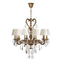 China Polished brass 10 light chandelier with Lampshade for Living room Bedroom (WH-PC-23) on sale