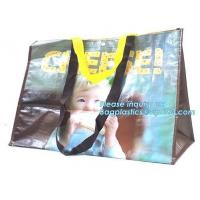 China Custom logo eco-friendly fabric promotional paper non woven bag, Best selling colorful U shape cut die non woven bag wit on sale