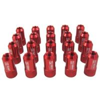 Quality Red 40mm Aluminum Racing Wheel Lug Nuts With Key / Lock For Honda for sale