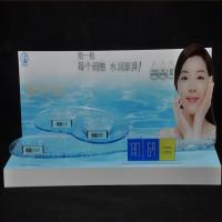 China Acrylic Product Display Stands High Bright Freestanding For Skin Care Advertising wholesale
