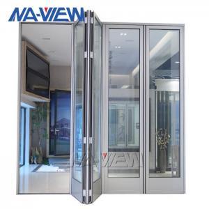 China Waterproof Bifold Glass Windows Grey Aluminium Folding Windows wholesale