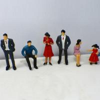Buy cheap Plastic Scale Model Painted People Figures for HO , OO , G N , T Train layout P25-6 7CM product