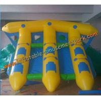 China Yellow Inflatable Boat Toys , Inflatable Flyfish Boat Towable 4m x 4m wholesale