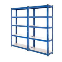China Wide Span Warehouse Storage Racks Q235 Material 5 Steel Panels Blue Color wholesale