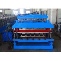 China Double Layer Roll Forming Machine For Tile Shape And Plain Metal Roof Panels wholesale