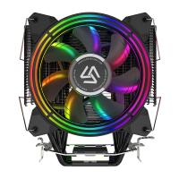 China Dual 120mm Intel Quiet CPU Cooler Rainbow Color Inculde High Density Heatsinks wholesale