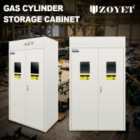 China Detecor Equipped Gas Bottle Storage Cabinet Cold Rolled Steel For 3 Cylinders wholesale