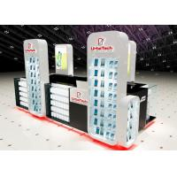 China Wood Glass Mobile Shop Display Counters High Low Combination For Shopping Mall Display wholesale