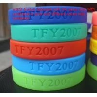 Buy cheap Customized designs and logo 100% Silicone chain bracelet for women from wholesalers
