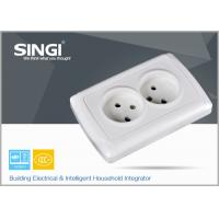 China Europe standard 16A 250V two gang electric wall socket used in the living room wholesale