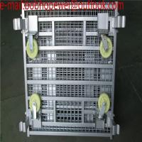 China Wire Mesh Bulk Container for warehouse foldable pallet cage/metal bin storage container/warehouse foldable pallet cage wholesale