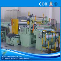 China Customized Steel Coil Slitting Machine , Metal Slitting Machine 220V With SKD11 Blade wholesale