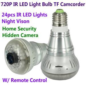 China HD 720P E27 24pcs LED Light IR Bulb Lamp Video Camcorder Hidden Spy CCTV Surveillance DVR wholesale