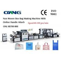 China High Efficiency Automatic Non Woven Box Bag Making Machine on sale