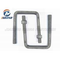 China OEM Steel MS Gr4.8 High Tensile Custom Fasteners Gr8.8 Square Bend U Shaped Bolts M16 Diameter wholesale