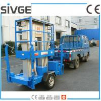 China Aluminium Alloy Trailer Mounted Lift 8m Hydraulic Trailer Bucket Lift wholesale