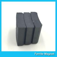 China Arc Shaped Permanent Ferrite Magnet For Ceiling Fan Motor SGS Certification wholesale