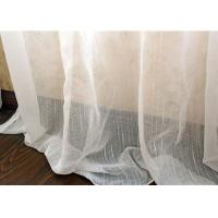China Upholstery White Sheer Curtain Fabric / Extra Wide Polyester Voile Fabric wholesale