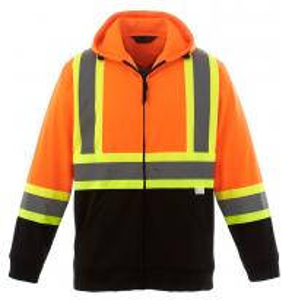 China Hi Vis Fleece Reflective Safety Hoody Jacket wholesale