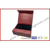 Buy cheap Creative red color magnet gift packaging box with gold foil, EVA foam with black velet from wholesalers