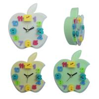 China Apple shape digital clock with glass wholesale