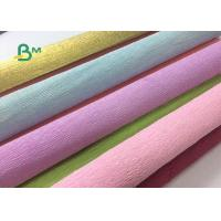 China Colored Double Sided Crepe Paper Roll 52cm x 250cm For Decorations wholesale