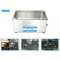 China Stainless Steel Ultrasonic Cleaner Electronics With 150W Cleaning Power wholesale