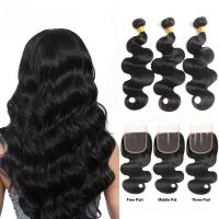 China Minimum Shedding Unprocessed Cambodian Human Hair Weave / Body Wave Human Hair wholesale