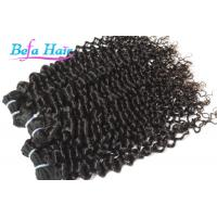 "China Spiral Curl 8"" 13"" Cambodian Hair Bundles , Highlighted Ombre Hair Extensions Weft wholesale"