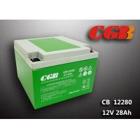 China Green ABS Plastic V0 lead Acid UPS Backup Battery 12V 28AH CB12280 9.8KG wholesale